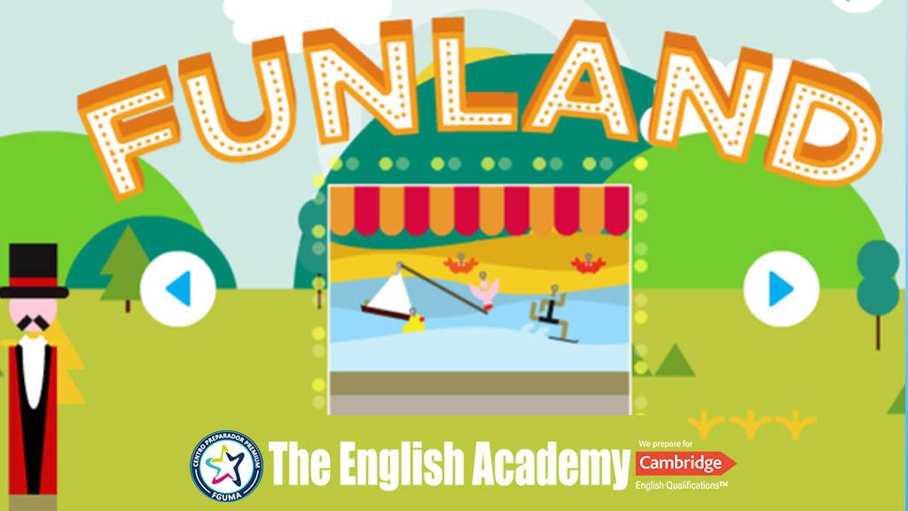 Funland – Juegos en Inglés en un parques de atracciones.